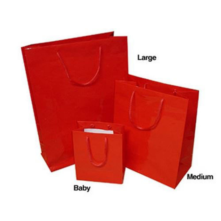 Picture of Coloured Laminated Paper Bags with Rope Handle - Baby