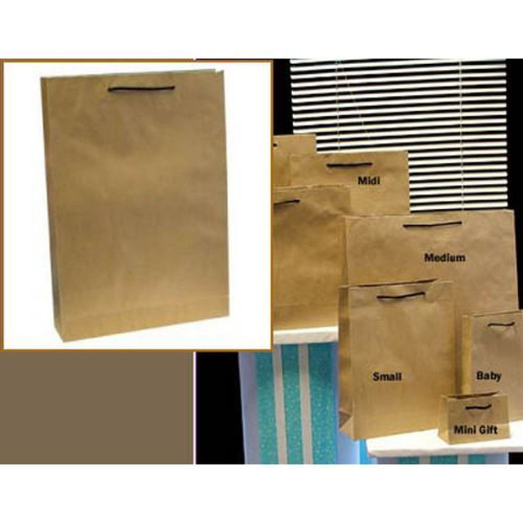 Picture of Deluxe Brown Kraft - Black Rope Handles - Medium