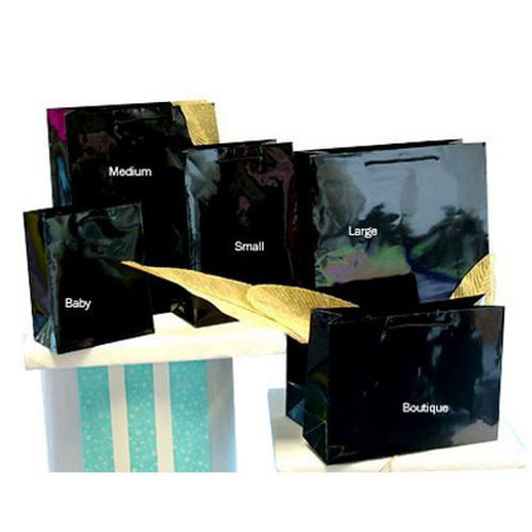 Picture of Plain Laminated Paper Bags with Rope Handle - Large