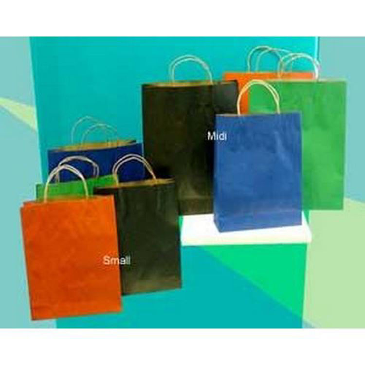 Picture of Small Coloured Kraft Paper Bag - Paper Loop Handle