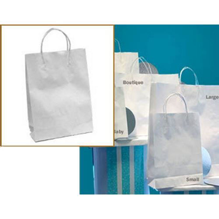 Picture of White Kraft - Paper Loop Handles - Small