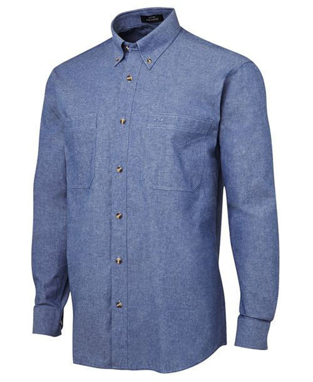 Picture of JB'S L-S COTTON CHAMBRAY SHIRT