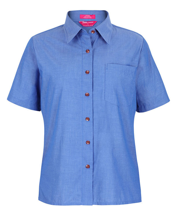 Picture of JB's LADIES ORIGINAL S/S INIDIGO CHAMBRAY SHIRT
