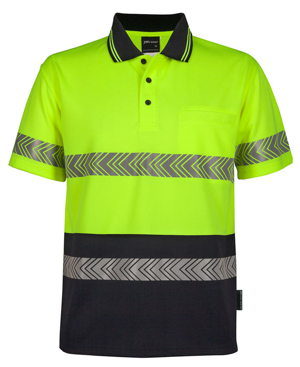 Picture of JB's HV S/S SEGMENTED TAPE POLO