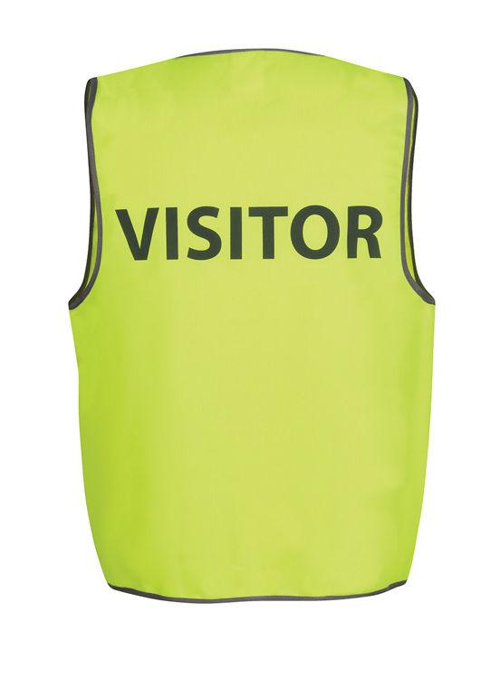 Picture of JB's HV SAFETY VEST PRINT VISITOR