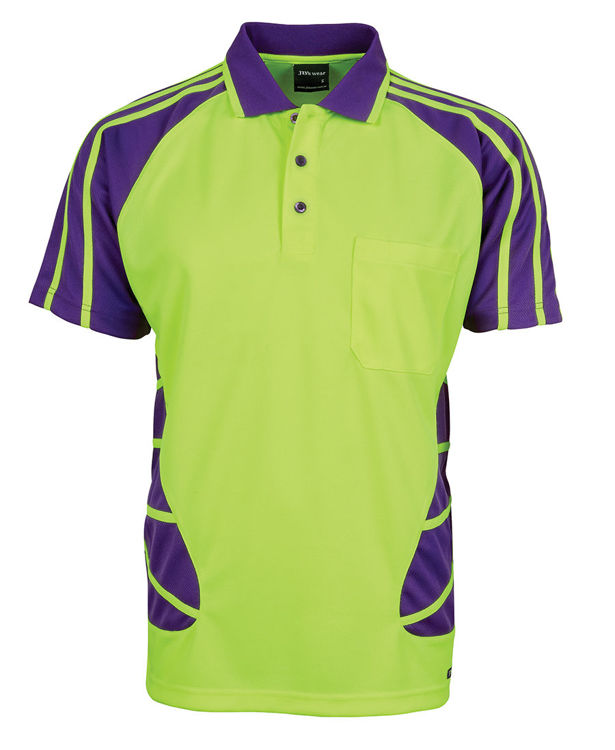 Picture of JB'S HI VIS S-S SPIDER POLO