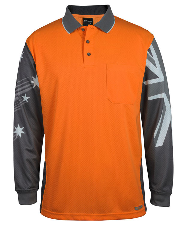 Picture of JB's HV L/S SOUTHERN CROSS POLO